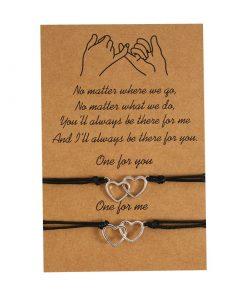 Bracelet fille amitié coeur